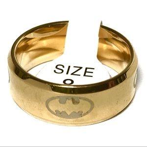 Ring Size 8 Batman Gold Tone